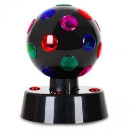 OneConcept Disco-Ball-4-B, fekete, LED fényhatás, 13,5 cm