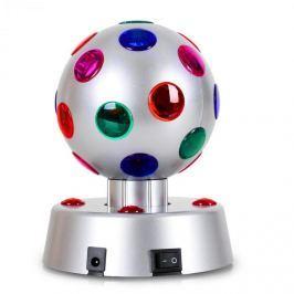 OneConcept Disco-Ball-4-S, LED effekt, ezüst, 13,5 cm
