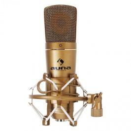 Auna CM600 USB kondenzátor mikrofon, bronz, kardoid, stúdió