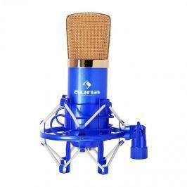 Auna CM001BG stúdió kondenzátor mikrofon, kék-arany