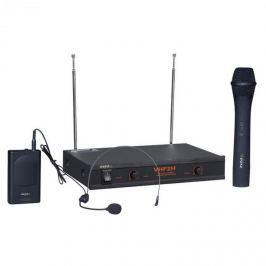 Ibiza VHF2H, vezetéknélküli mikrofon rendszer, 2 x mic