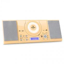 Auna MC 120, sztereó rendszer, MP3, USB, CD, FM, falra szerelhető, krémszínű