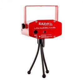 Ibiza Firefly Showlaser fényeffektus, mini lézer, multipoint, 130 mW, piros, állvány