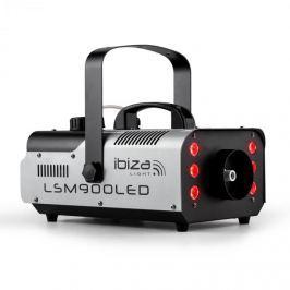 Ibiza LSM900LED ködgép, 900 W, 1 liter, DMX, RGB-LED