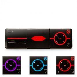 Auna MD-640 autórádió, bluetooth, SD, USB, tartó okostelefonhoz, fekete