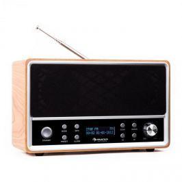 Auna Charleston, DAB+- digitális hordozható rádió, FM/AM, RDS, ébresztőóra, bükk