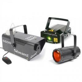 Beamz Light Package 3, disco fényhatás készlet, lézer, füstgép