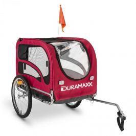 DURAMAXX King Rex, 250l, kerékpár utánfutó kutyáknak, acélcsövek, 40kg