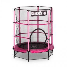 Klarfit Rocketkid, 140 cm trambulin, belső védőháló, bungee rugók, rózsaszín