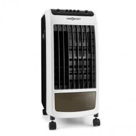 OneConcept Caribbean Blue levegőhűtő készülék, légfrissítő, ventilátor, 70 W, fekete/fehér