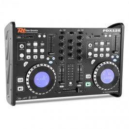 Power Dynamics PDX125, kettős DJ-Player-Controller 2 csatornás keverőpult CD, USB, SD, MP3