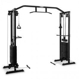 Klarfit Cablefit edzőtorony, 2 x 77kg, acél, fekete