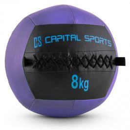 CAPITAL SPORTS Wallba 9, 9kg, lila, Wall Ball (medicinlabda) műbőr