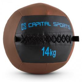 CAPITAL SPORTS Wallba 14, 14kg, barna, Wall Ball (medicinlabda) műbőr