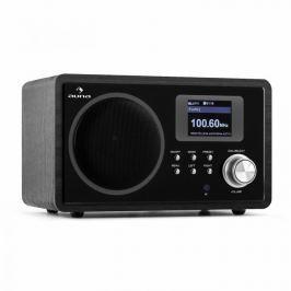 Auna IR-150, internet rádió, FM, DLNA, WLAN, retro, távirányítás, fa szekrény