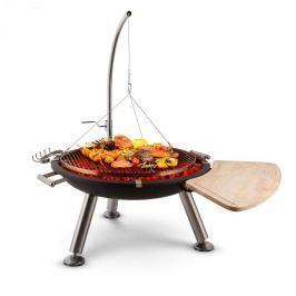Blumfeldt Turion, akasztófás forgó grill, barbecue, sodronymeghajtás, rozsdamentes acél