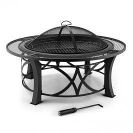 Blumfeldt Ronda, Ø95cm, acél tűzrakóhely grillsütővel, védelem a szikrák ellen, polírozott