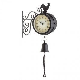 Blumfeldt Early Bird, kerti óra, falióra, hőmérő, 28 x 34 x 12 cm, csengő, retro