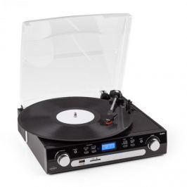 Inovalley Retro05, hangrendszer, gramofon USB-vel, SD-vel AUX-szal, FM/AM-mel, kazetták