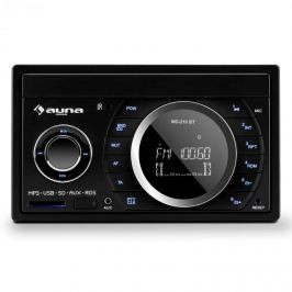 Auna MD-210 BT RDS, 4 x 75 W, autórádió, bluetooth, USB, SD, MP3, mikrofon, 2-DIN