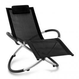 Blumfeldt Chilly Billy, fekete, kerti relax szék, alumínium