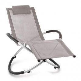 Blumfeldt Chilly Billy, szürkésbarna, kerti relax szék, alumínium