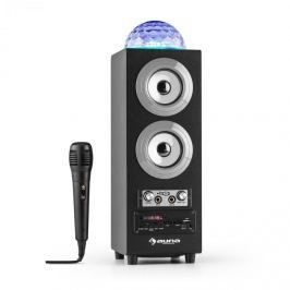 Auna DiscoStar Silver, hordozható 2.1 bluetooth hangfal, USB, akkumulátor, LED, mikrofon