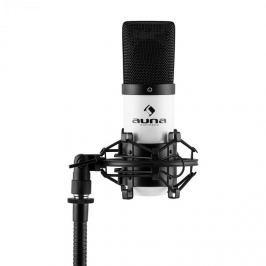 Auna MIC-900WH, fehér, USB, kondenzátoros mikrofon, kardioid, stúdió
