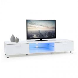 OneConcept Keira Lowboard, TV asztal, fehér, LED világítás, színváltoztatás