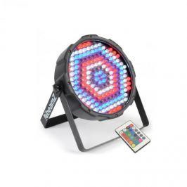 Beamz FlatPAR, 186 x 10 mm LED, PAR reflektor, RGBW, LED, DMX, IR, távirányító