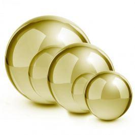 Blumfeldt Golden Globes, arany, nemesacél, kerti gömb, díszgömb, 3 darabos készlet, 13/20/28 cm