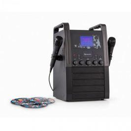 Auna KA8B-V2 BK, fekete, karaoke rendszer, CD lejátszó, 2 x mikrofon, 3 x karaoke CD mellékelve
