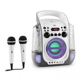 Auna Kara Liquida, karaoke rendszer, CD, USB , MP3, szökőkút, LED, 2 x mikrofon, hordozható