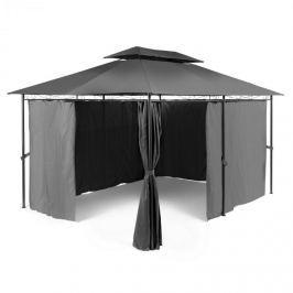 Blumfeldt GRANDEZZA, sötétszürke, kerti pavilon, party sátor, 3x4 m, acél, poliészter