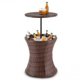 Blumfeldt Beerboy kerti asztal, italhűtő, Ø 50cm, polyrattan, bicolor barna