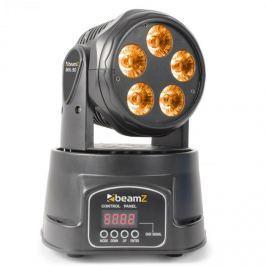 Beamz MHL90 Mini, forgófej, LED fényhatás, 5 x 18 W, RGBAW-UV, 6 az 1-ben