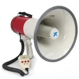 Vexus MEG050, megafon, 50 W, felvételkészítő funkció, sziréna, mikrofon, működtetés elemekkel, pánt