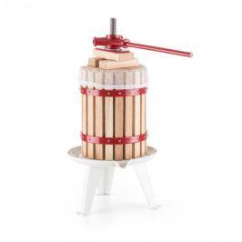 OneConcept Berrymore L, gyümölcs sajtó, gyümölcsprés, 6 l, mechanikus, racsnis mechanizmus, acél, fa