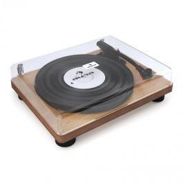 Auna TT Classic WD retró lemezjátszó, USB, soros kimenet, hangszóró, fa burkolat