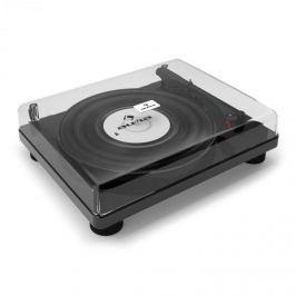 Auna TT Classic BK retró lemezjátszó, USB, soros kimenet, hangszóró, fényes fekete
