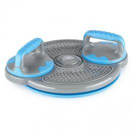 Klarfit Klartwist rotációs diszk 3 az 1-ben, egyensúlyozó tárcsa, fekvőtámasz keret, kék