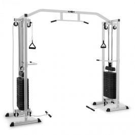 Klarfit Cablefit, ezüst, áthidalt edzőtorony, csigás gép, acél, 2 x 77 kg