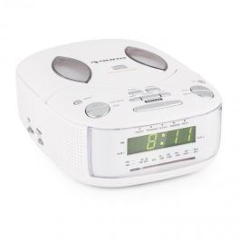 Auna Dreamee SL, fehér, rádió ébresztőóra CD lejátszóval, FM/AM, AUX, kettős ébresztőóra