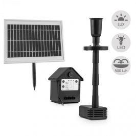 Blumfeldt Wasserwerk 500, vízszivattyú, napelemes, szökőkút, 500 l/h, LED, akkumulátor
