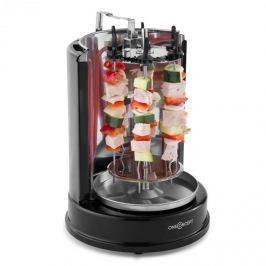 OneConcept Twist & Grill, vertikális grillsütő, kebab grillsütő, rostély, 1400 W, nemesacél