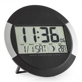 OneConcept Clockwork, digitális vezeték nélküli falióra, hőmérő, naptár, holdfázis, állvány