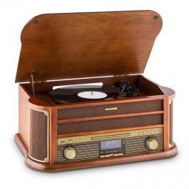 Auna Belle Epoque 1908 DAB, retro sztereó rendszer, lemezjátszó, DAB+, bluetooth