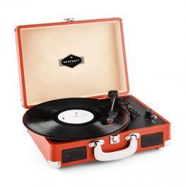 Auna Peggy Sue, piros, retro gramofon, vinyl LP, USB, line out