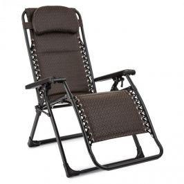 Blumfeldt California Red napozószék, kerti szék, összecsukható, rombusz mintás