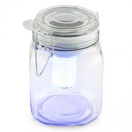 OneConcept WETTERFROSCH, sárga/kék, LED lámpa, befőttes pohár, napelemes, akkumulátor